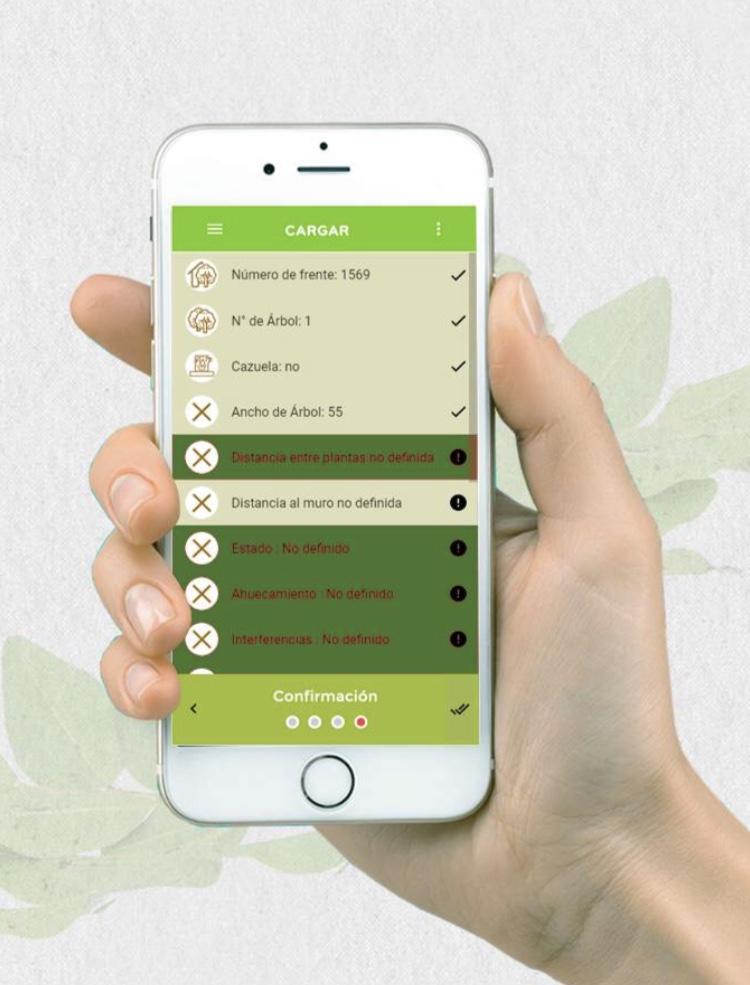 En su celular, el sistema Arbolado te permite cargar los datos y estadísticas en que quieres enfocarte.